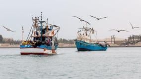 Peruviaanse fisher-boat Royalty-vrije Stock Afbeeldingen