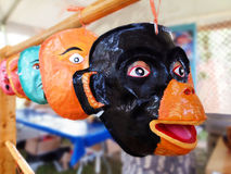 Peruviaanse Handcrafted-Maskers Royalty-vrije Stock Foto's