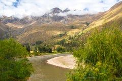 Peruviaanse Heilige Vallei: De Treinrit aan Machu Picchu Royalty-vrije Stock Afbeelding