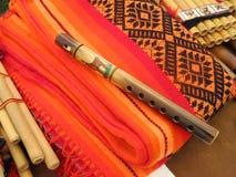 Peruviaanse Houten Fluit Royalty-vrije Stock Afbeeldingen