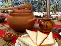 Peruviaanse keuken op Taquile-Eiland Royalty-vrije Stock Foto's