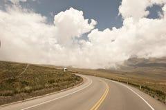 Peruviaanse rijweg Royalty-vrije Stock Foto's