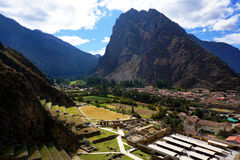 Peruviaanse stad van Ollantaytambo Royalty-vrije Stock Afbeeldingen