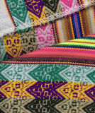 Peruviaanse textilclose-up Stock Afbeeldingen