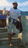 Peruviaanse visser royalty-vrije stock afbeelding