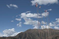 Peruviaanse vlaggen Royalty-vrije Stock Fotografie