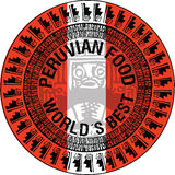 Peruviaanse voedselillustratie Stock Foto's