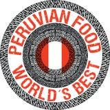 Peruviaanse voedselillustratie Stock Fotografie
