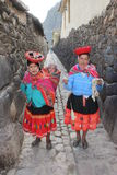 Peruviaanse vrouwen Stock Foto's