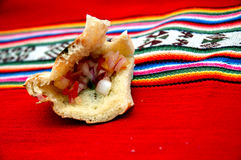 peruvian гористой местности еды типичные Стоковая Фотография