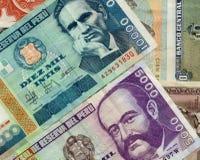 peruvian кредиток старые стоковое изображение