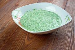 Peruvian Aji Verde Sauce Stock Image