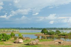Peruvian Amazonas, Indian settlement Stock Photography