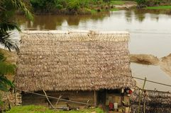 Peruvian Amazonas, Indian settlement Royalty Free Stock Image