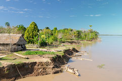 Peruvian Amazonas, Indian settlement Stock Photo