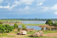 Peruvian Amazonas, Indian settlement Royalty Free Stock Photo