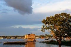 Peruvian Amazonas, Indian settlement Royalty Free Stock Photos