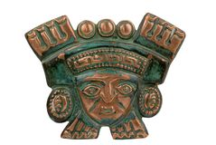Peruvian ancient ceremonial mask Stock Image