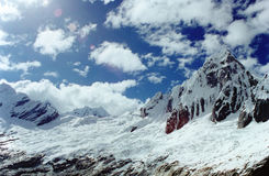 Peruvian Andes. Trekking through the Andes in Peru Stock Photo