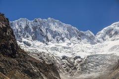Peruvian Andes and Ocshapalpa peak. (5888 m) Peru royalty free stock photos