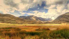 Peruvian Andes Panoramic Royalty Free Stock Images