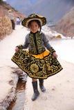 Peruvian angel. Peruvian girl in traditional costume stock photography