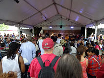 Peruvian Band and Crowd at the Folklife Festival Stock Images