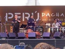 Peruvian Band at the Folklife Festival Royalty Free Stock Photo