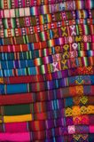 Peruvian Blankets. Stacked for sale in a Cusco market Royalty Free Stock Photos