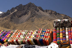 Peruvian blankets Royalty Free Stock Images