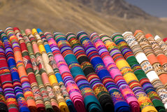 Peruvian blankets Stock Images