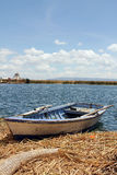 Peruvian boat on Lake Titicaca in Peru, South America Royalty Free Stock Photo