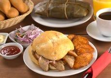Peruvian Breakfast Royalty Free Stock Photos