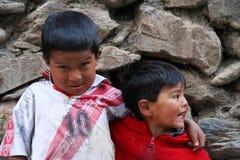Peruvian brothers Stock Photo