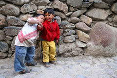 Peruvian brothers Stock Images