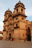 Peruvian Cathedral. A peruvian Cathedral in the main square of Cusco, Peru stock image