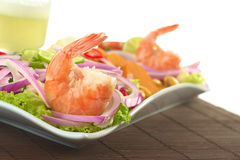 Peruvian Ceviche with King Prawn Stock Photography