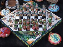 peruvian-chess-set Stock Image