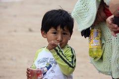 Peruvian child very poor but happy Stock Image
