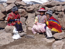 Peruvian Children. Children in the Colca Canyon region of Peru - August, 2010 Royalty Free Stock Image