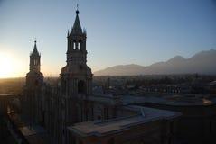 The Peruvian city of Arequipa royalty free stock photos