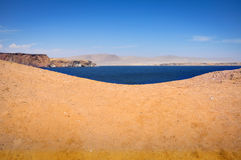 Peruvian coastline. In Paracas, South America royalty free stock photo