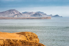 Peruvian Coastline, Paracas National Reserve Stock Photo