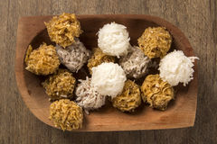 Peruvian cocadas, a traditional coconut dessert sold usually on Royalty Free Stock Photos