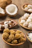 Peruvian cocadas, a traditional coconut dessert sold usually on Stock Photography