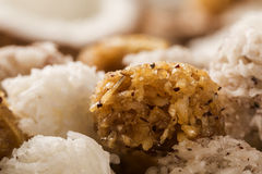 Peruvian cocadas, a traditional coconut dessert sold usually on Stock Photos