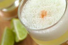 Peruvian Cocktail Pisco Sour Royalty Free Stock Photography