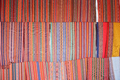 Peruvian colorful textile Stock Image