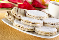 Peruvian Cookies Called Alfajores Royalty Free Stock Images