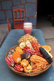 Peruvian corn and chicha Royalty Free Stock Images